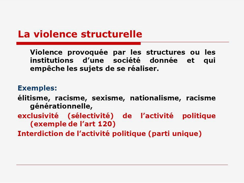 La violence structurelle