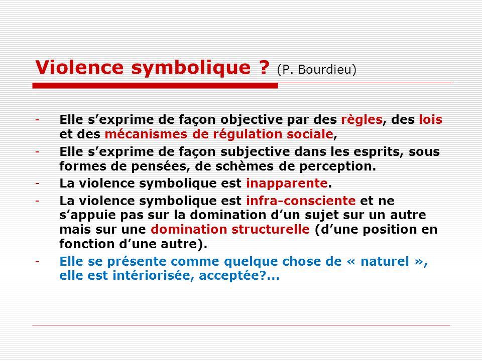 Violence symbolique (P. Bourdieu)