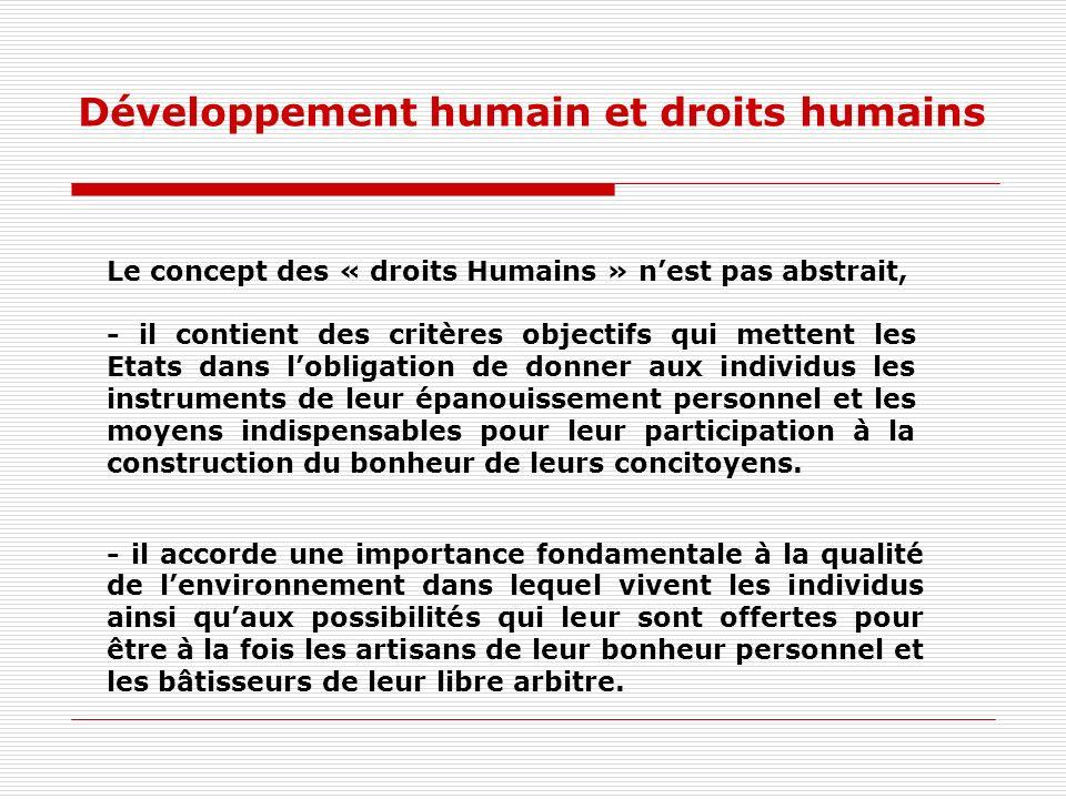 Développement humain et droits humains