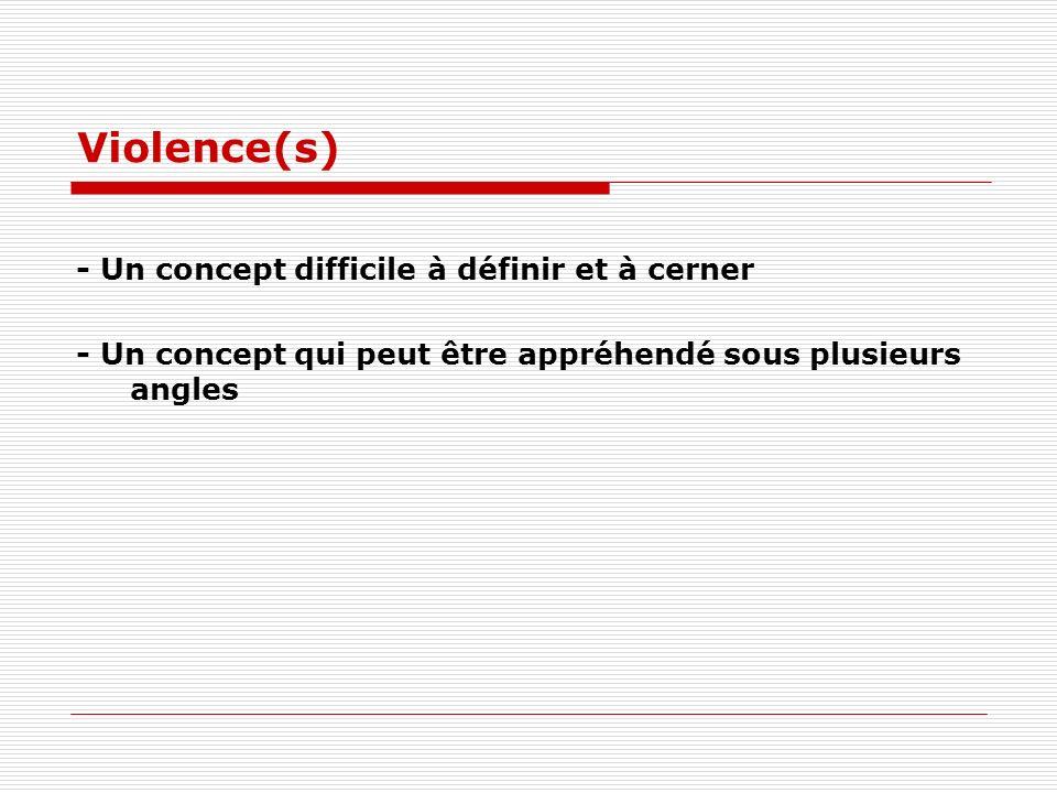 Violence(s) - Un concept difficile à définir et à cerner