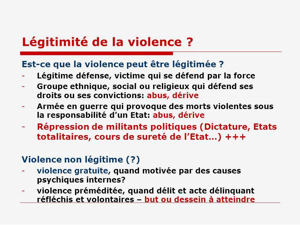 Légitimité de la violence