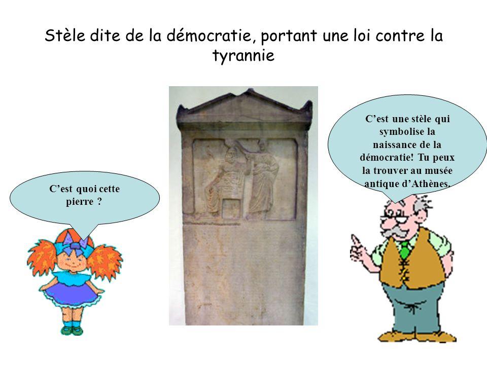 Stèle dite de la démocratie, portant une loi contre la tyrannie