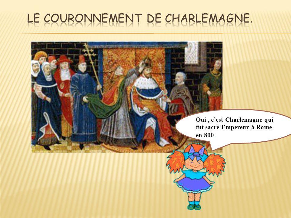 Le couronnement de Charlemagne.