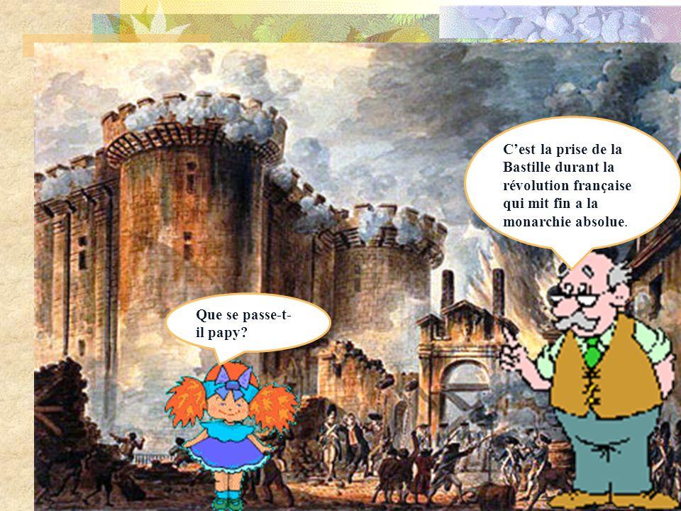 C'est la prise de la Bastille durant la révolution française