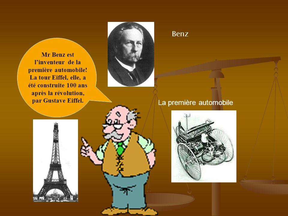Mr Benz est l'inventeur de la première automobile!