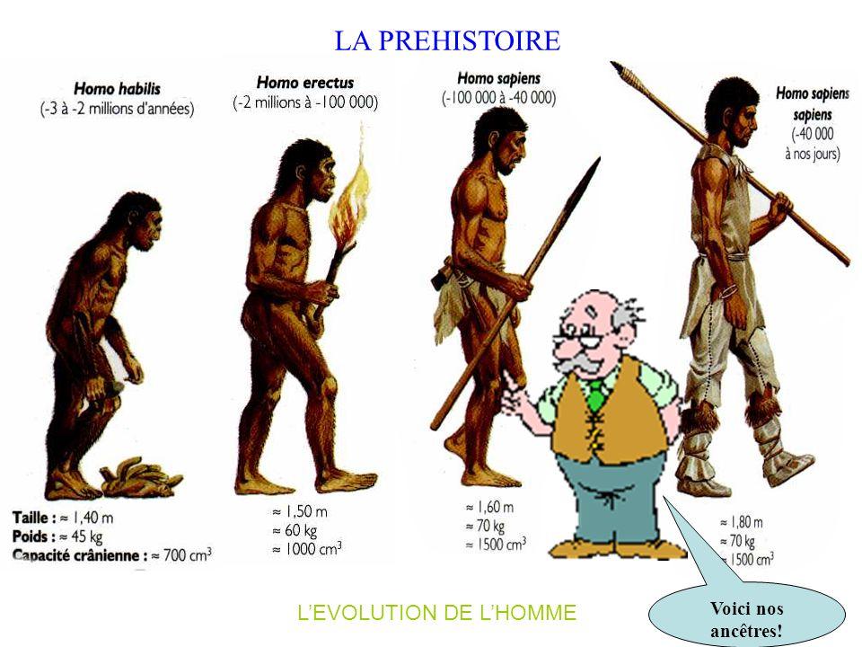 L'EVOLUTION DE L'HOMME