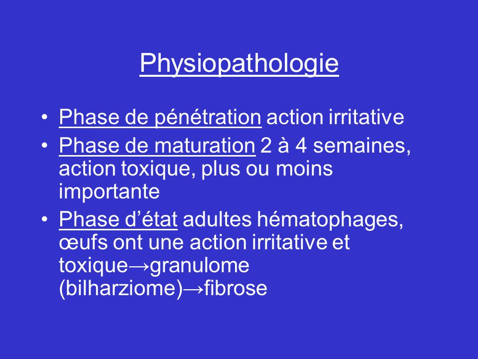 Physiopathologie Phase de pénétration action irritative