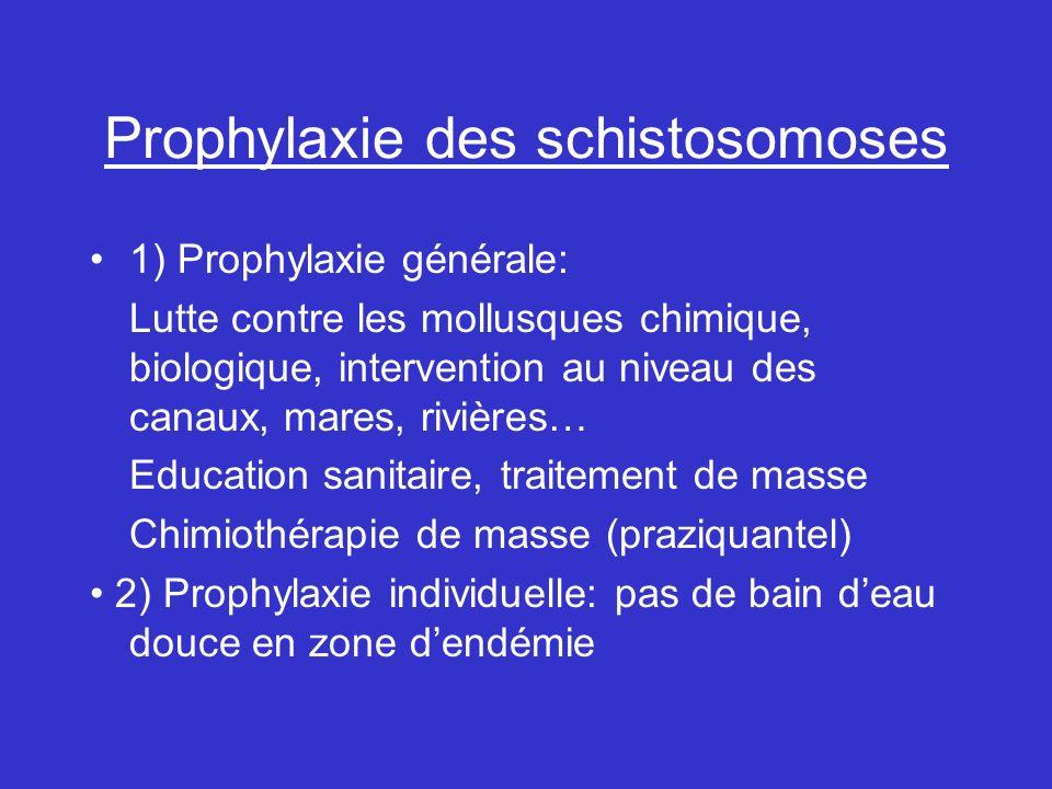 Prophylaxie des schistosomoses