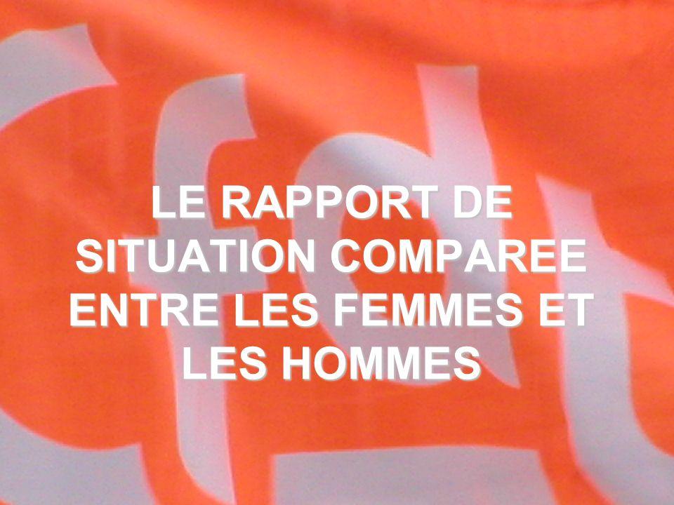 LE RAPPORT DE SITUATION COMPAREE ENTRE LES FEMMES ET LES HOMMES