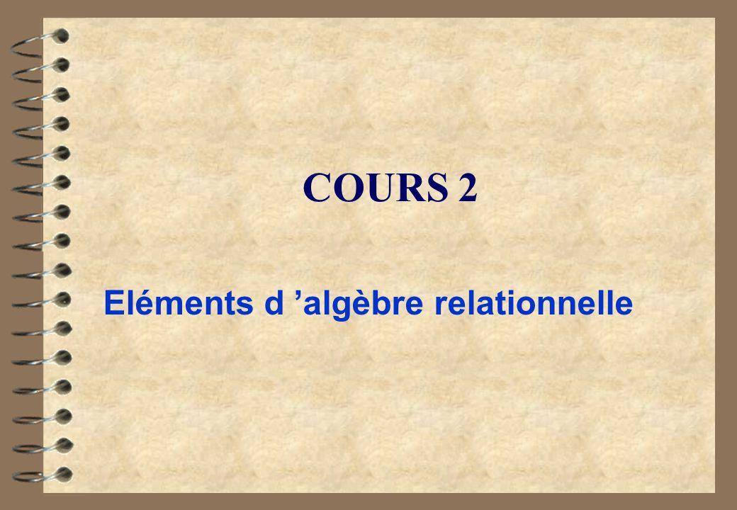 Eléments d 'algèbre relationnelle