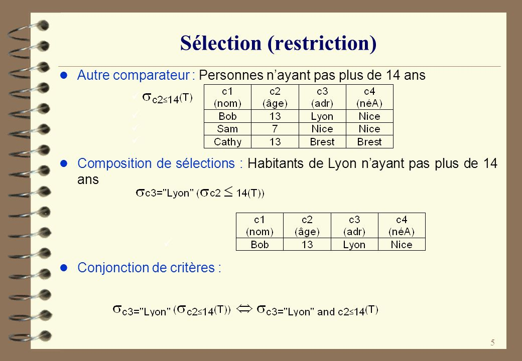 Sélection (restriction)