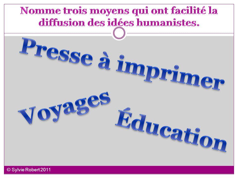 Nomme trois moyens qui ont facilité la diffusion des idées humanistes.