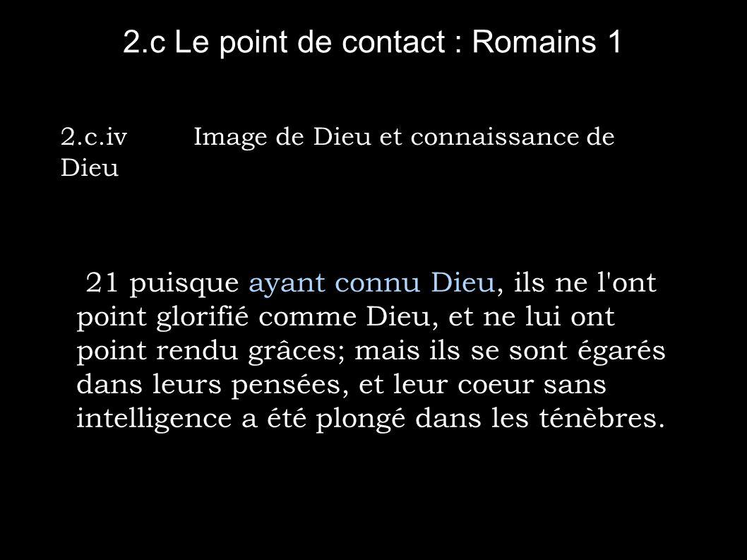 2.c Le point de contact : Romains 1