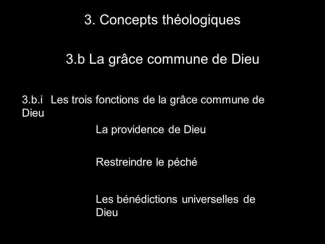3.b La grâce commune de Dieu