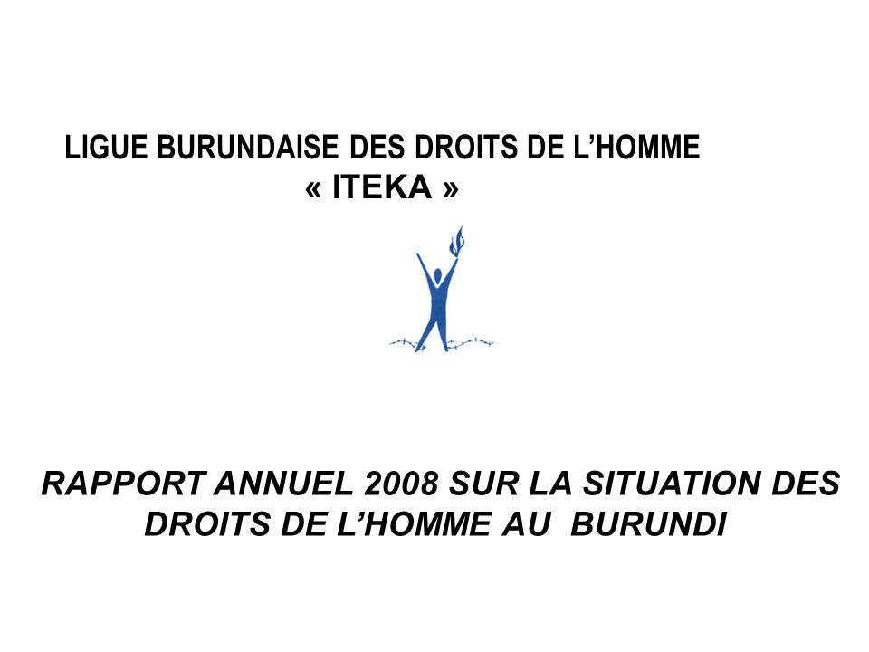 LIGUE BURUNDAISE DES DROITS DE L'HOMME « ITEKA »