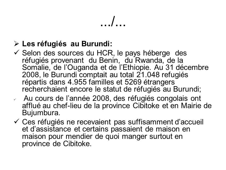 .../... Les réfugiés au Burundi: