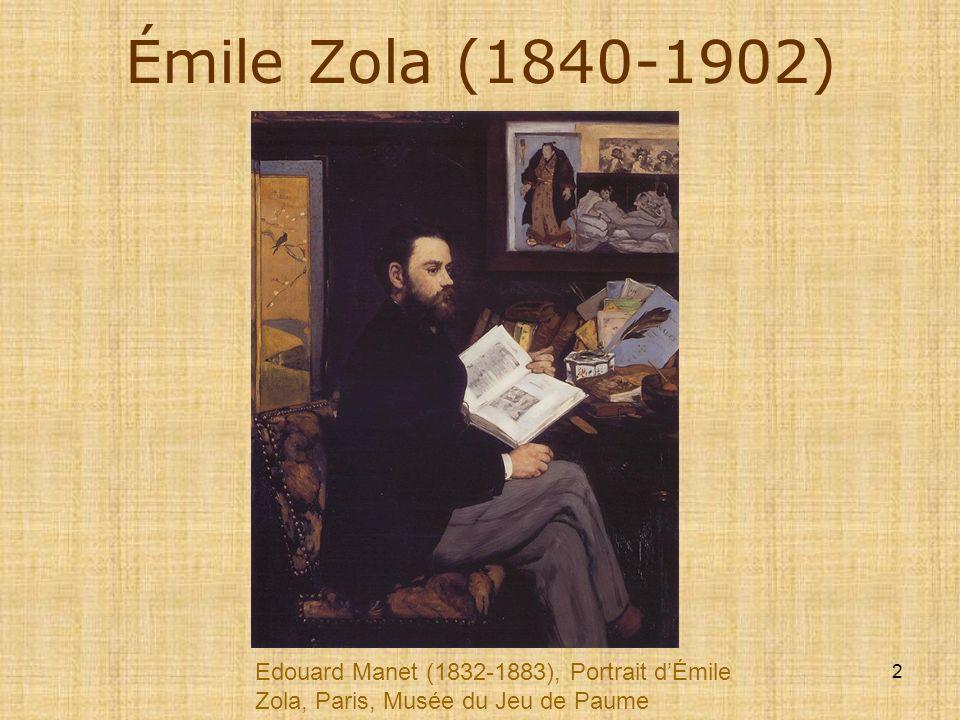 Émile Zola (1840-1902) Edouard Manet (1832-1883), Portrait d'Émile Zola, Paris, Musée du Jeu de Paume.