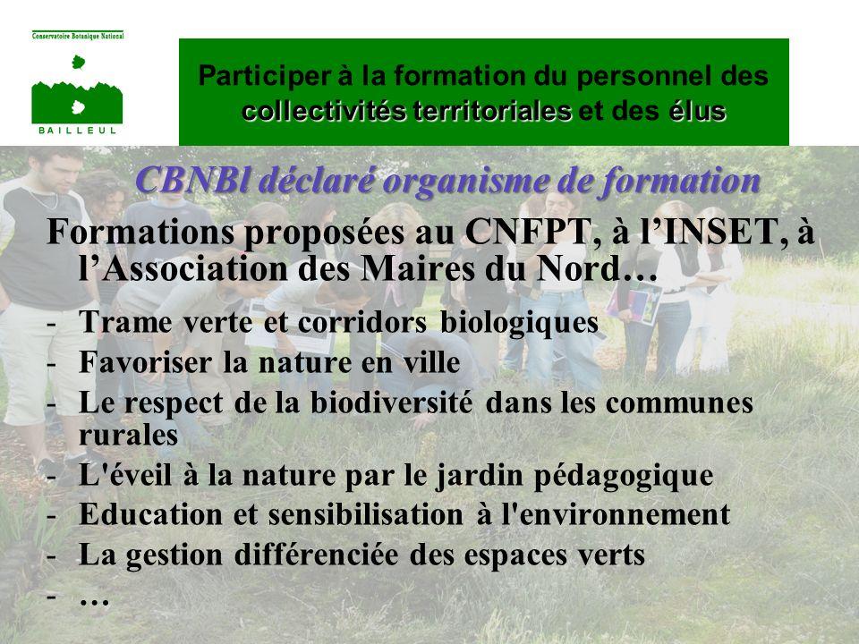 CBNBl déclaré organisme de formation