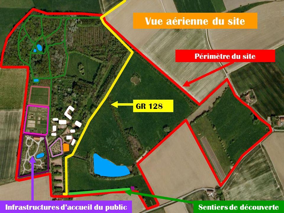 Vue aérienne du site Périmètre du site GR 128