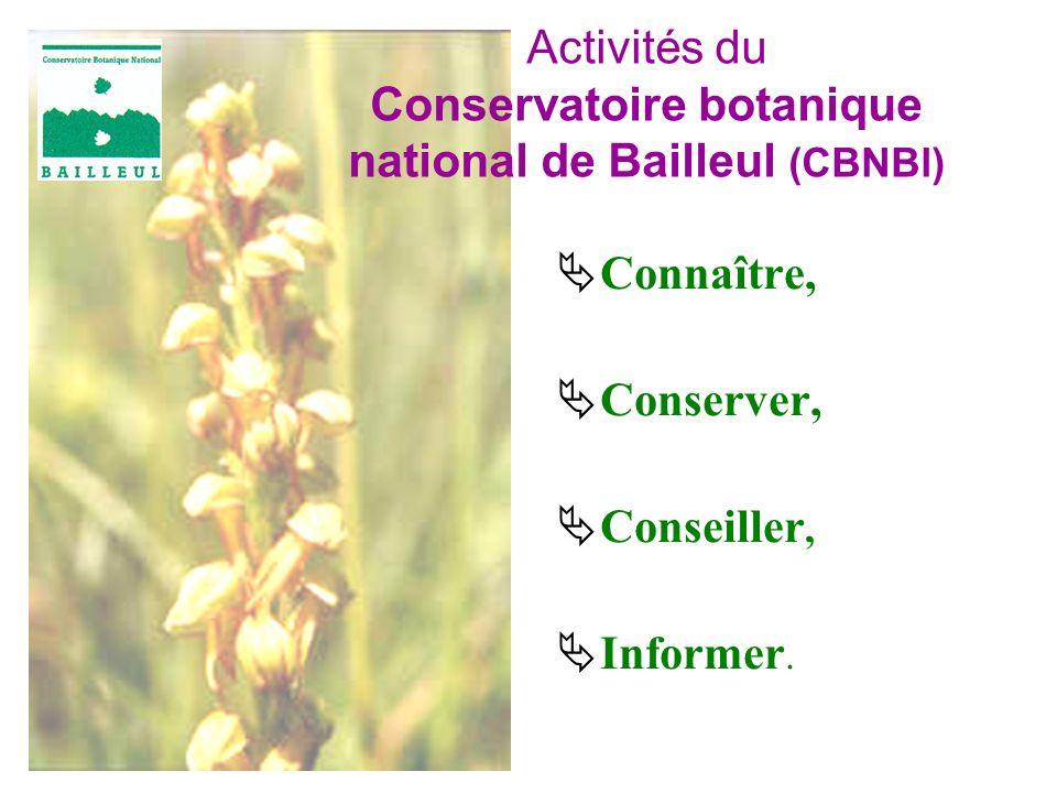 Activités du Conservatoire botanique national de Bailleul (CBNBl)