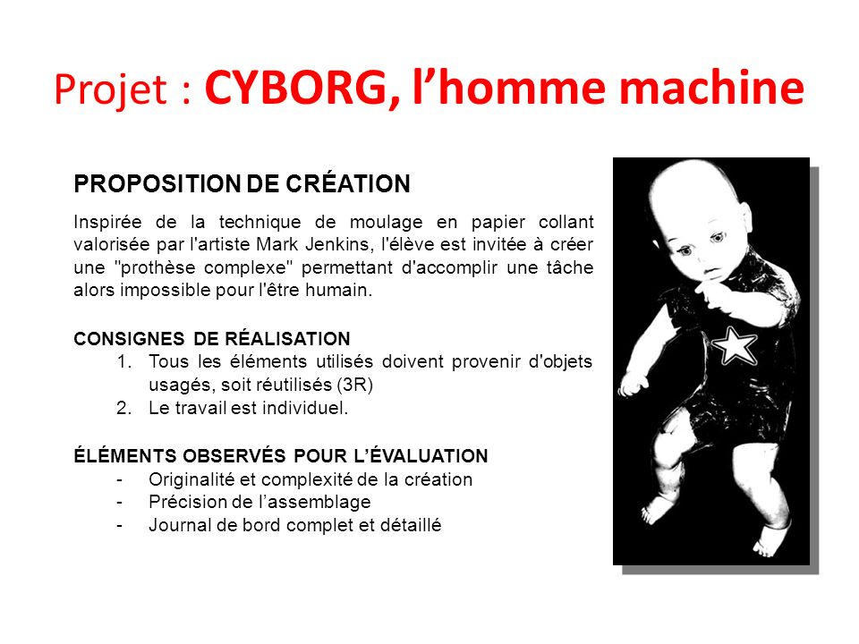 Projet : CYBORG, l'homme machine