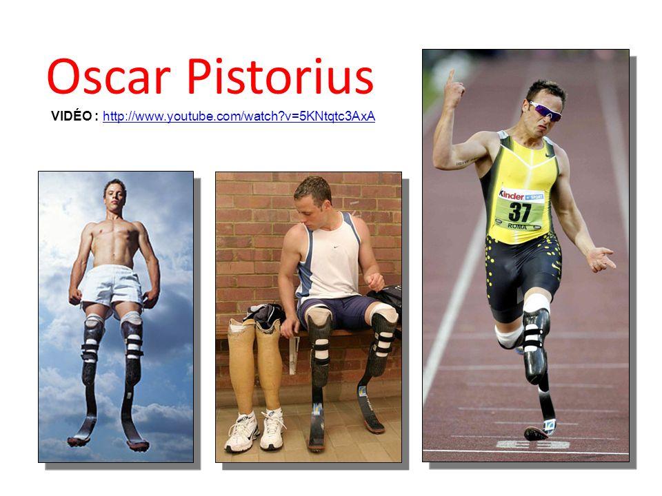 Oscar Pistorius VIDÉO : http://www.youtube.com/watch v=5KNtqtc3AxA