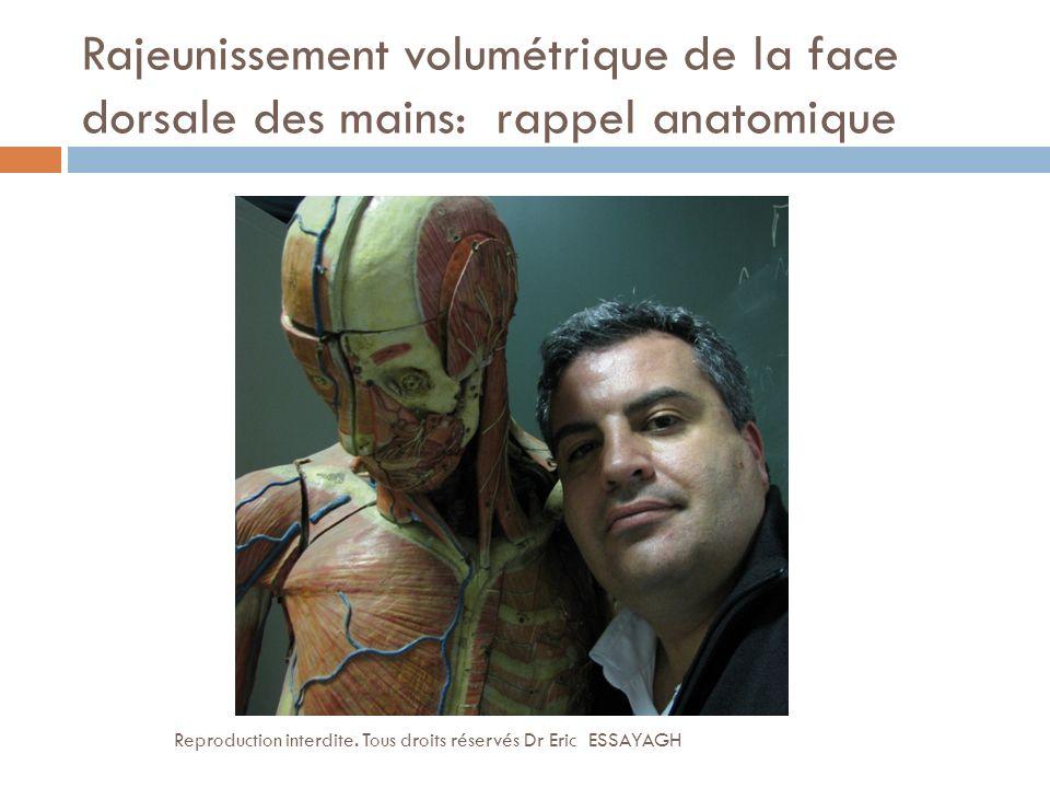 Rajeunissement volumétrique de la face dorsale des mains: rappel anatomique