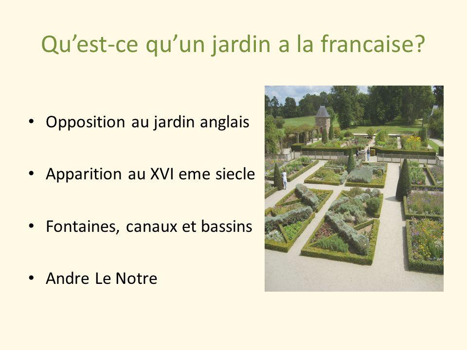 Qu'est-ce qu'un jardin a la francaise