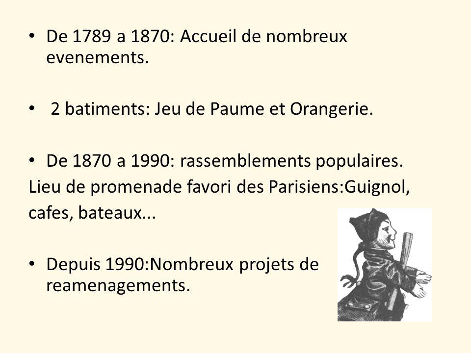 De 1789 a 1870: Accueil de nombreux evenements.