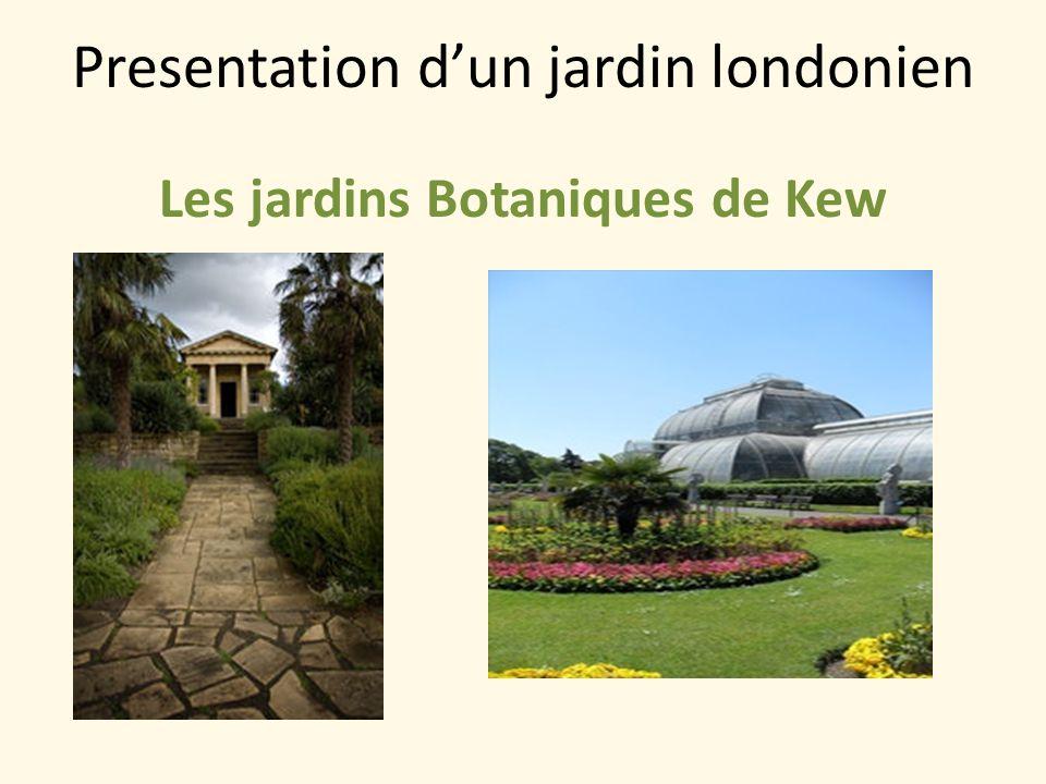 Presentation d'un jardin londonien
