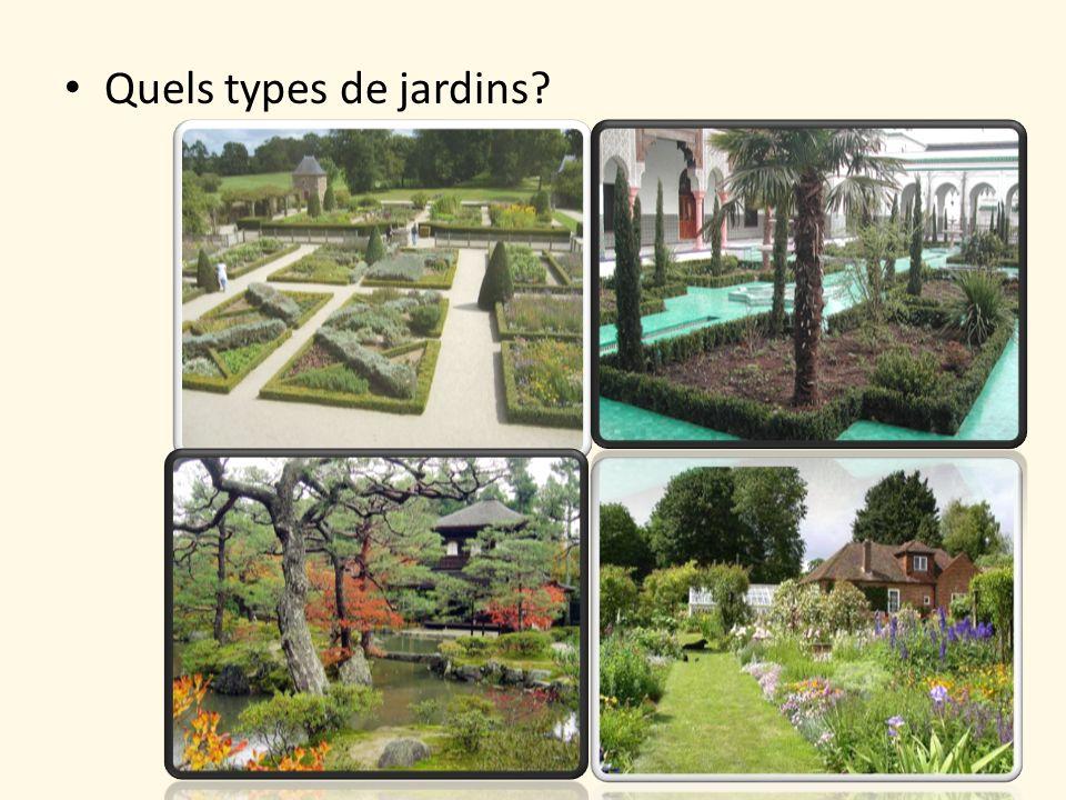 Quels types de jardins