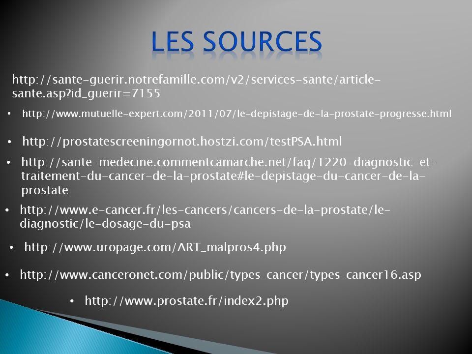 Les sources http://sante-guerir.notrefamille.com/v2/services-sante/article-sante.asp id_guerir=7155.