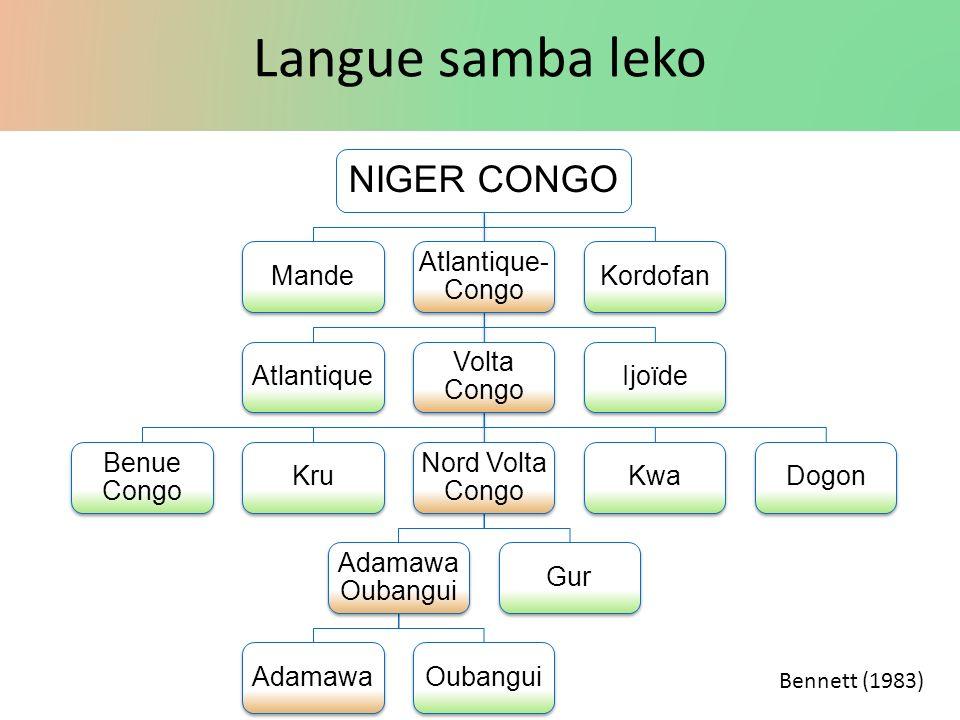 Langue samba leko Niger Congo Mande Atlantique-Congo Atlantique