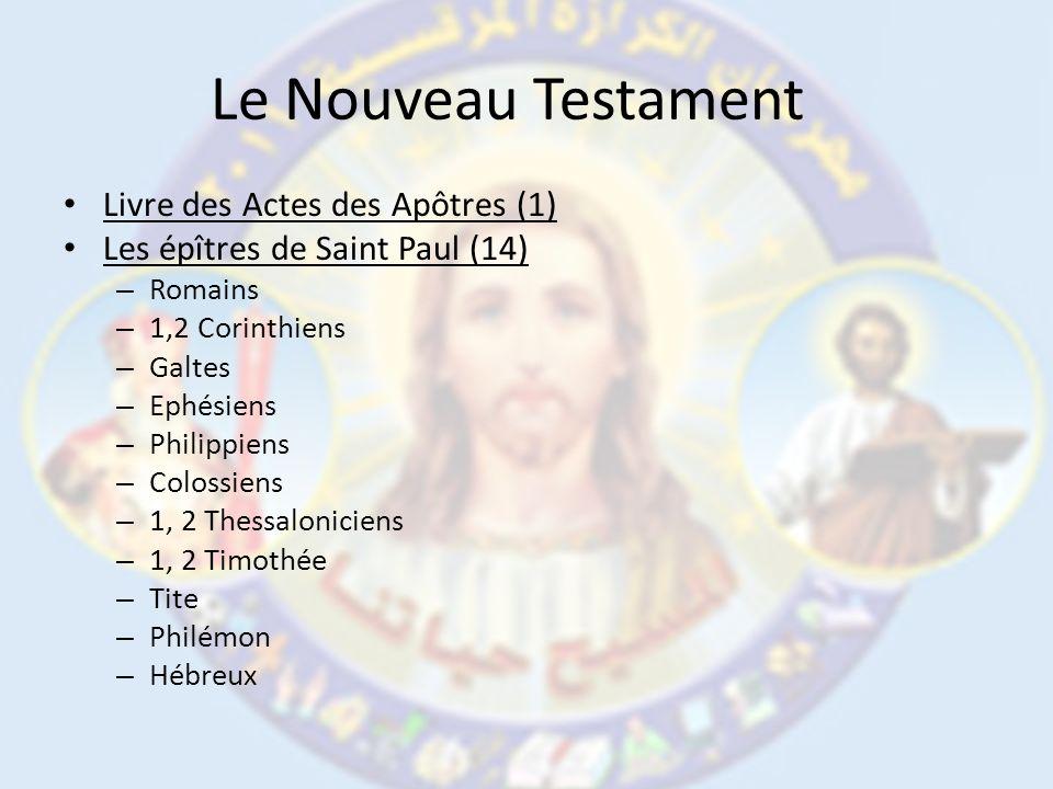 Le Nouveau Testament Livre des Actes des Apôtres (1)