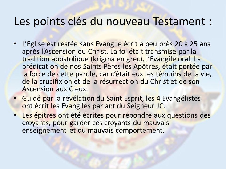 Les points clés du nouveau Testament :