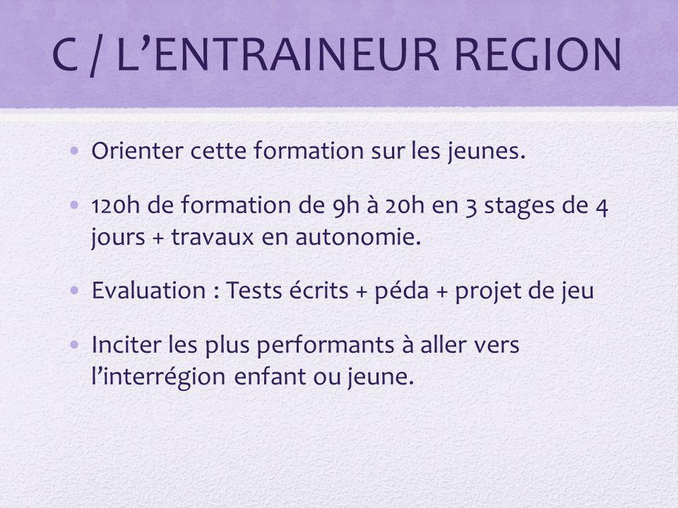 C / L'ENTRAINEUR REGION
