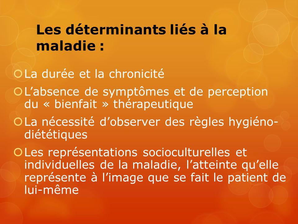 Les déterminants liés à la maladie :