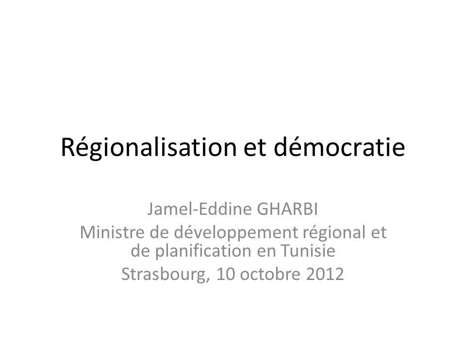 Régionalisation et démocratie