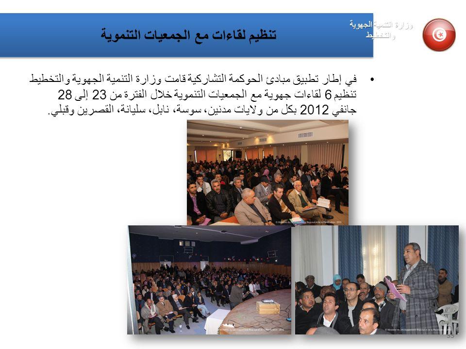 تنظيم لقاءات مع الجمعيات التنموية