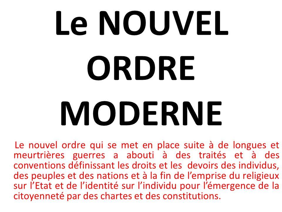 Le NOUVEL ORDRE MODERNE