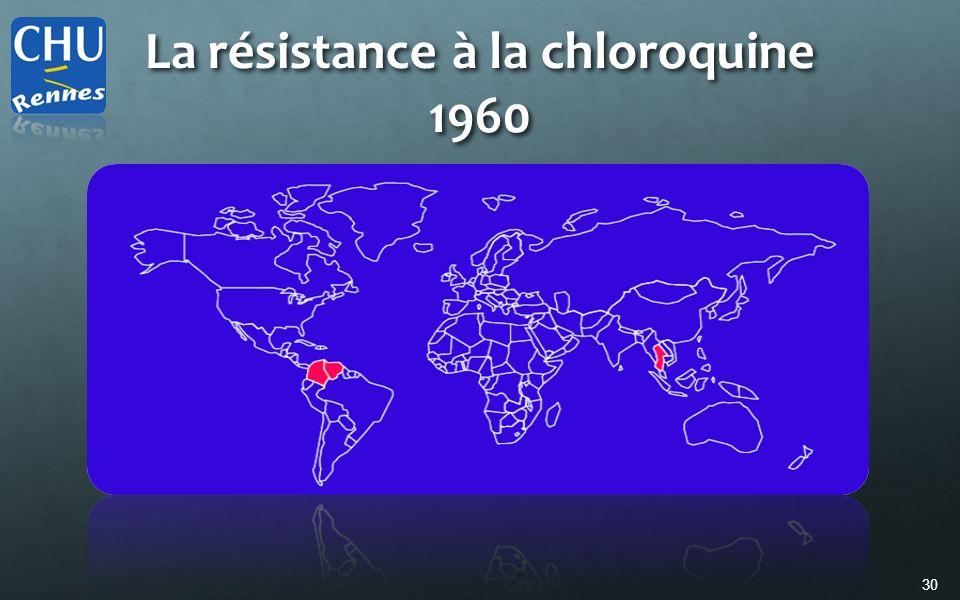 La résistance à la chloroquine 1960