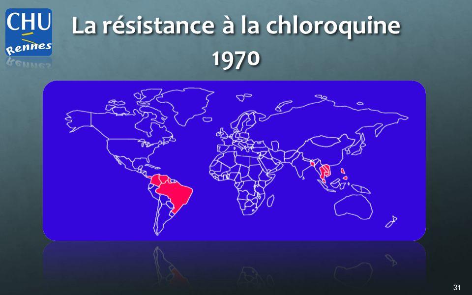 La résistance à la chloroquine 1970