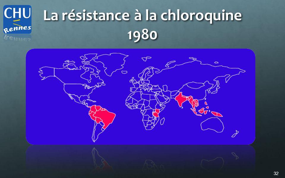 La résistance à la chloroquine 1980