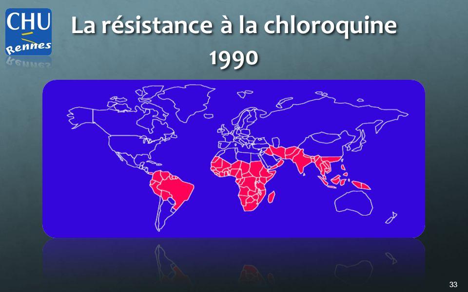 La résistance à la chloroquine 1990