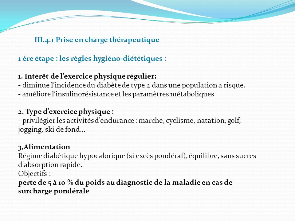 III.4.1 Prise en charge thérapeutique