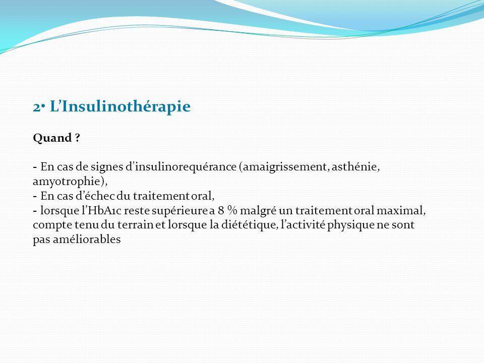 2• L'Insulinothérapie Quand