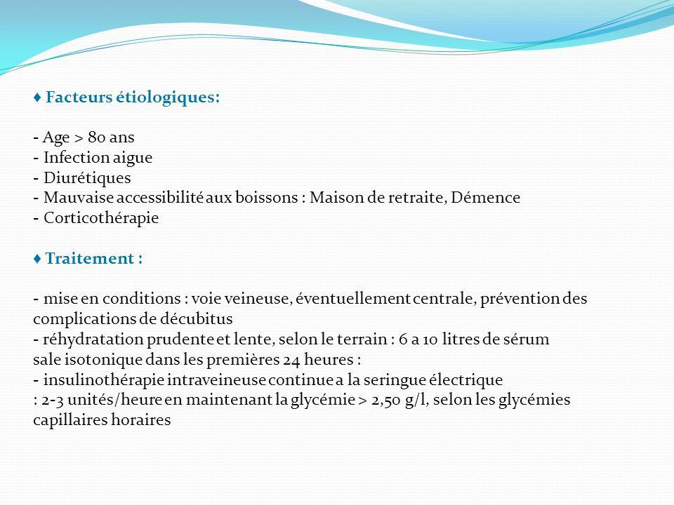 ♦ Facteurs étiologiques: