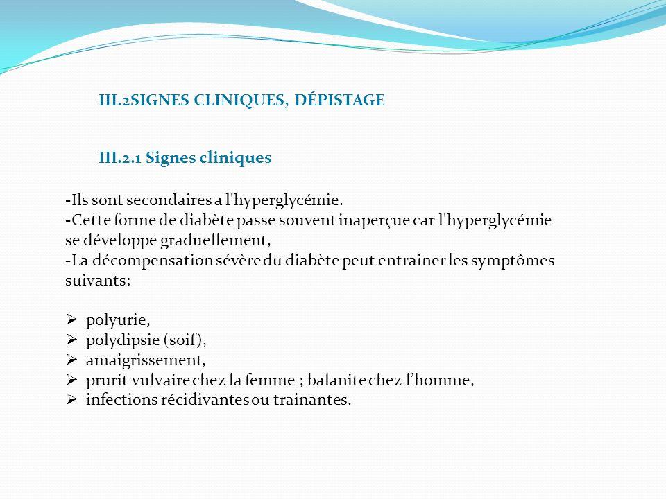 III.2SIGNES CLINIQUES, DÉPISTAGE