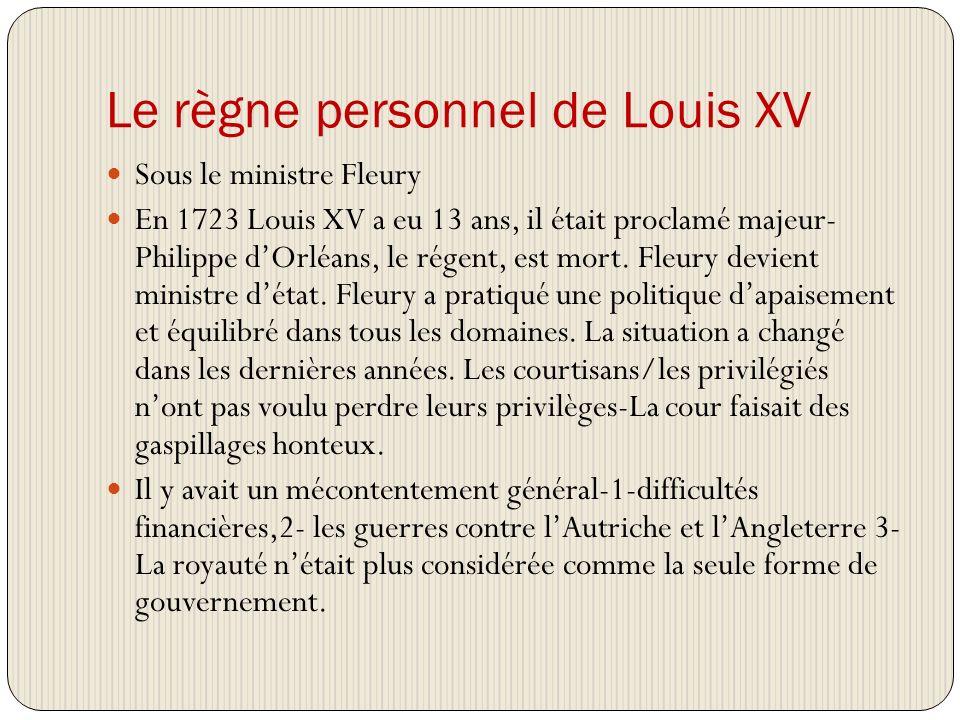 Le règne personnel de Louis XV