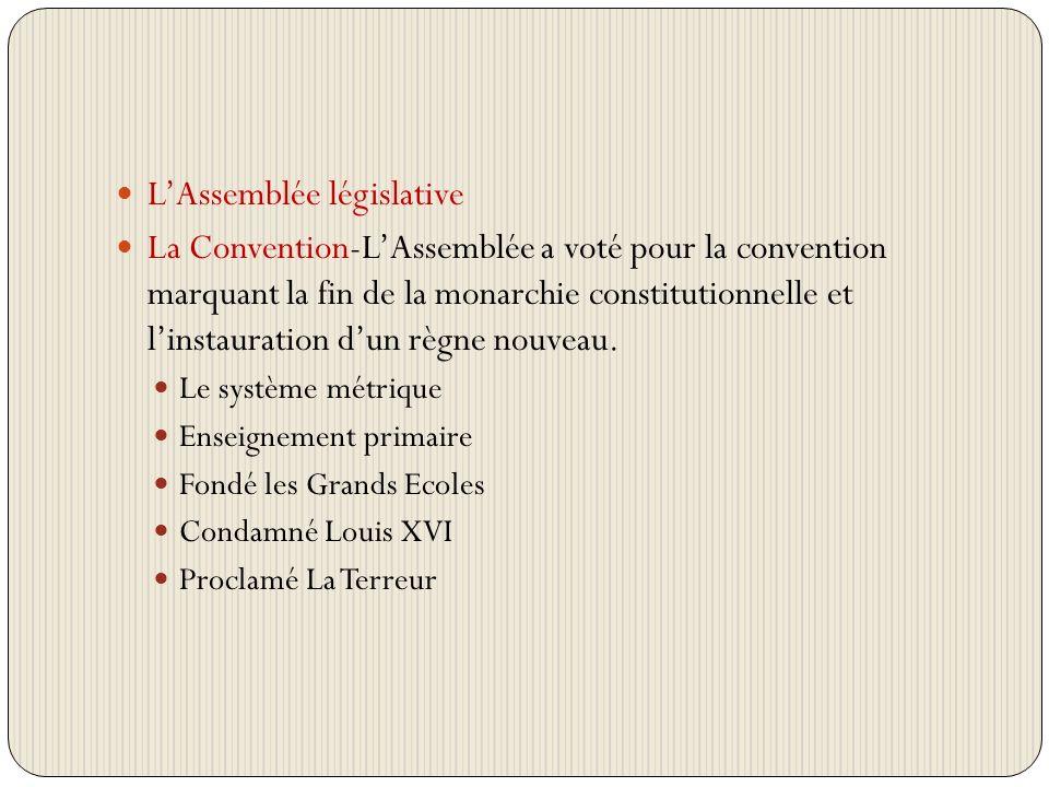 L'Assemblée législative